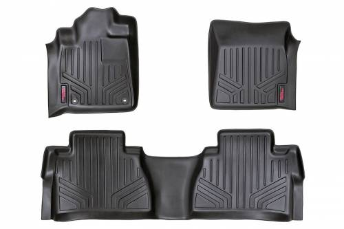 Interior - Floor Mats & Cargo Liners - Rough Country Suspension - M-71770 | Heavy Duty Front & Rear Floor Mats | Crew Max