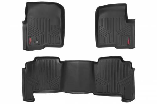 Interior - Floor Mats & Cargo Liners - Rough Country Suspension - M-50412 | Heavy Duty Front & Rear Floor Mats | Crew Cab