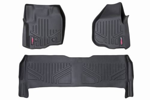 Interior - Floor Mats & Cargo Liners - Rough Country Suspension - M-51213 | Heavy Duty Front & Rear Floor Mats | Raised Pedal