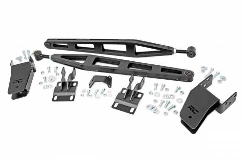 Suspension Components - Traction Bars - Rough Country Suspension - 51003 | Ford Traction Bar Kit | 4.5-6 Inch Lift Height