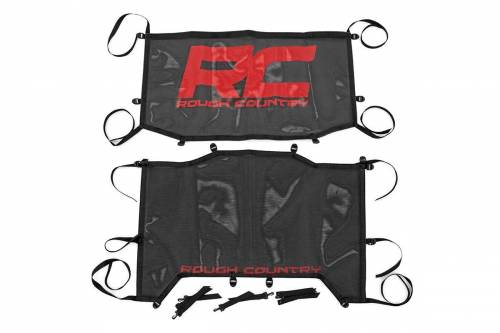 Exterior - Relpacement Tops - Rough Country Suspension - 85120 | Jeep JL Unlimited Mesh Bikini Top Plus