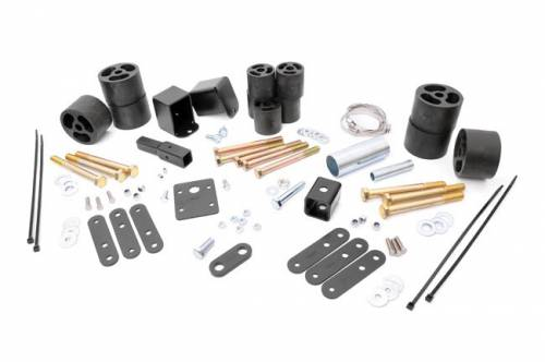 Suspension - Body Lift Kits - Rough Country Suspension - RC616 | Jeep 2 Inch Body Lift Kit | Manual Transmission