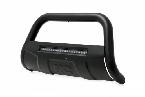 Rough Country Suspension - B-C4151 | GM Black Bull Bar with 20 Inch LED Light Bar