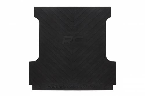 Exterior - Truck Bed Mats - Rough Country Suspension - RCM590 | GM Bed Mat with RC Logos | 6ft 6in Bed