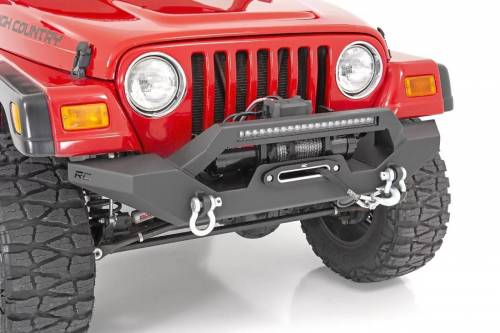 Rough Country Suspension - 10595 | Jeep Full Width Front LED Winch Bumper