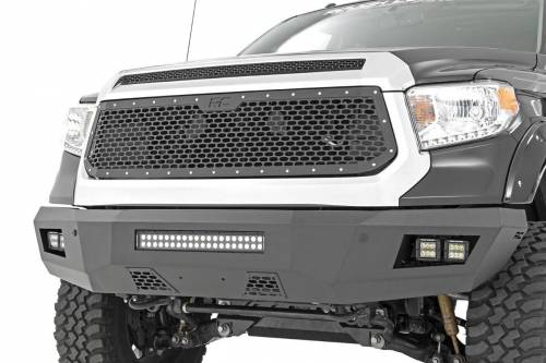 Exterior - Custom Grilles - Rough Country Suspension - 70222 | Toyota Mesh Grille