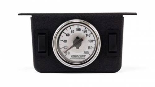 Air Lift Company - 26157 | Dual Needle Gauge Panel with two switches | 200 PSI