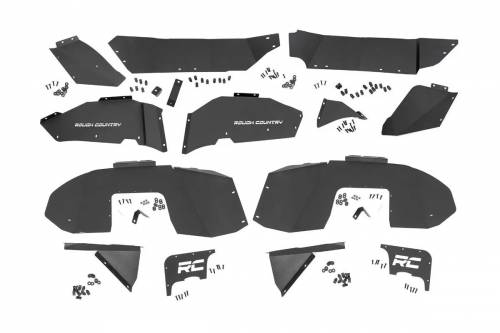 Exterior - Fender Flares - Rough Country Suspension - 10499 | Jeep Inner Fenders | Front & Rear