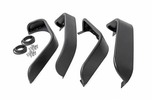 Rough Country Suspension - 10533 | Jeep Tubular Front & Rear Fender Flares Set