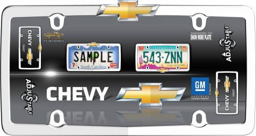 Exterior - License Plate Frames - Cruiser Accessories - 10437 | Chevrolet, Chrome / Gold License Plate Frame