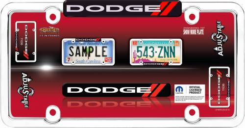 Exterior - License Plate Frames - Cruiser Accessories - 11036 | Dodge, Chrome / Red License Plate Frame