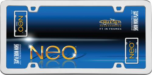 Exterior - License Plate Frames - Cruiser Accessories - 15030 | Neo, Chrome License Plate Frame