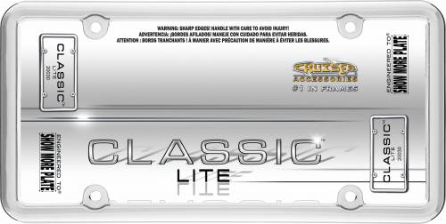 Exterior - License Plate Frames - Cruiser Accessories - 20030 | Classic Lite, Chrome License Plate Frame