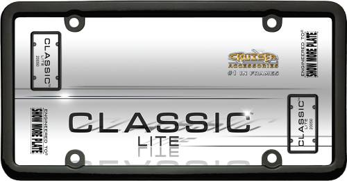 Exterior - License Plate Frames - Cruiser Accessories - 20050 | Classic Lite, Black License Plate Frame