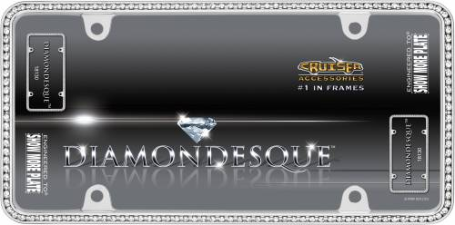 Exterior - License Plate Frames - Cruiser Accessories - 18130 | Diamondesque, Chrome / Clear License Plate Frame