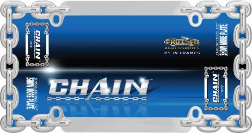 Exterior - License Plate Frames - Cruiser Accessories - 20530 | Chain, Chrome License Plate Frame