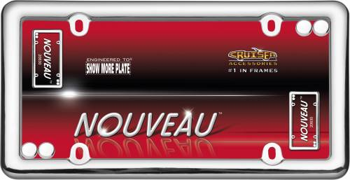 Exterior - License Plate Frames - Cruiser Accessories - 20630 | Nouveau, Chrome with Fasteners License Plate Frame