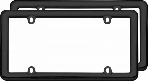 Exterior - License Plate Frames - Cruiser Accessories - 20642 | Noveau Two Frame Value Pack, Black License Plate Frame