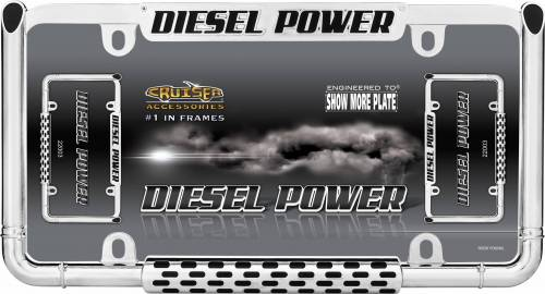 Exterior - License Plate Frames - Cruiser Accessories - 22003 | Diesel Power, Chrome License Plate Frame