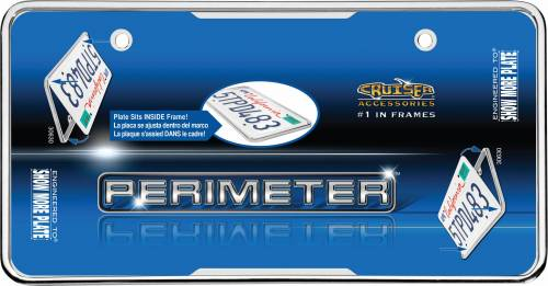Exterior - License Plate Frames - Cruiser Accessories - 30630 | Perimeter, Chrome License Plate Frame