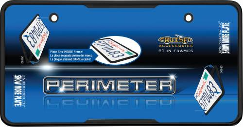 Exterior - License Plate Frames - Cruiser Accessories - 30650 | Perimeter, Black License Plate Frame