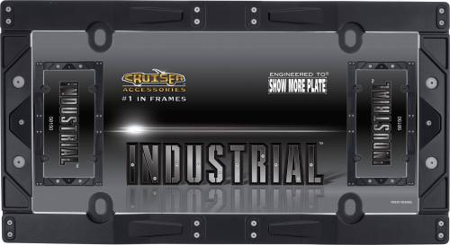 Exterior - License Plate Frames - Cruiser Accessories - 58150 | Industrial, Matte Black License Plate Frame