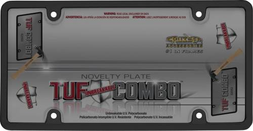 Exterior - License Plate Frames - Cruiser Accessories - 62052 | Tuf Combo, Black / Smoke License Plate Frame