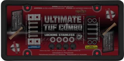 Exterior - License Plate Frames - Cruiser Accessories - 62520 | Ultimate Tuf Combo, Black / Smoke License Plate Frame