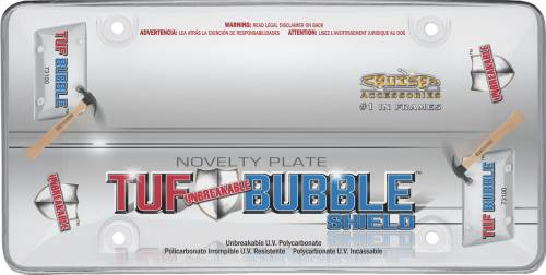 Exterior - License Plate Frames - Cruiser Accessories - 73100 | Tuf Bubble Shield, Clear License Plate Frame