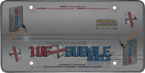 Exterior - License Plate Frames - Cruiser Accessories - 73200 | Tuf Bubble Shield, Smoke License Plate Frame