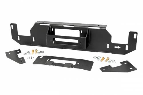 Exterior - Winches & Accessories - Rough Country Suspension - 51007 | Ford Hidden Winch Mounting Plate