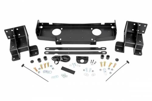 Exterior - Winches & Accessories - Rough Country Suspension - 10602 | Jeep Hidden Winch Mounting Plate