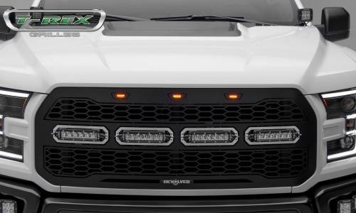 "T-Rex Billet - 6515661 | Revolver Series Main Grille Replacement, Aluminum Accent Trim, (4) 6"" LED Bars - Image 7"