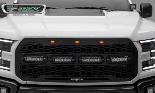 "T-Rex Billet - 6515661 | Revolver Series Main Grille Replacement, Aluminum Accent Trim, (4) 6"" LED Bars - Image 8"