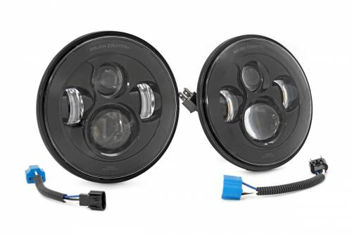 Lighting - Headlights - Rough Country Suspension - RCH5000 | Jeep 7 Inch LED Projection Headlights