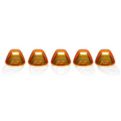 Lighting - Cab Roof Lights - Recon Truck Accessories - 264142AM | (5-Piece Set) Amber Cab Roof Light Lenses Only & Amber Xenon Bulbs