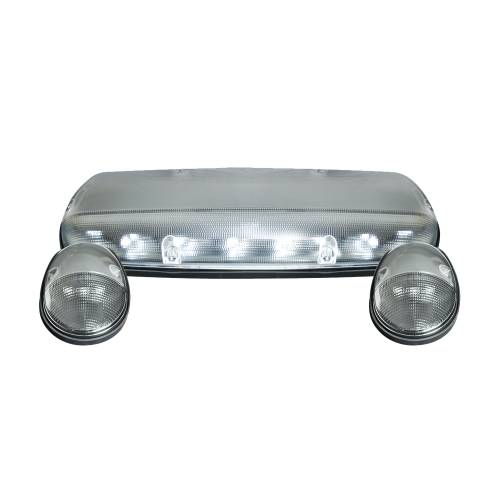 Lighting - Cab Roof Lights - Recon Truck Accessories - 264155WHCLHP | (3-Piece Set) Clear Cab Roof Light Lens with White High-Power OLED Bar-Style LED's