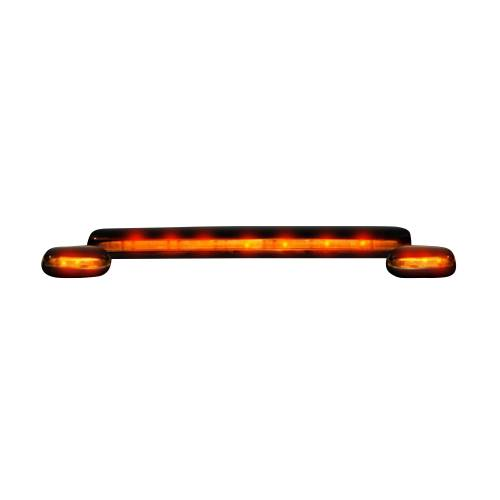 Lighting - Cab Roof Lights - Recon Truck Accessories - 264156AM | (3-Piece Set) Amber Cab Roof Light Lens with Amber LED's