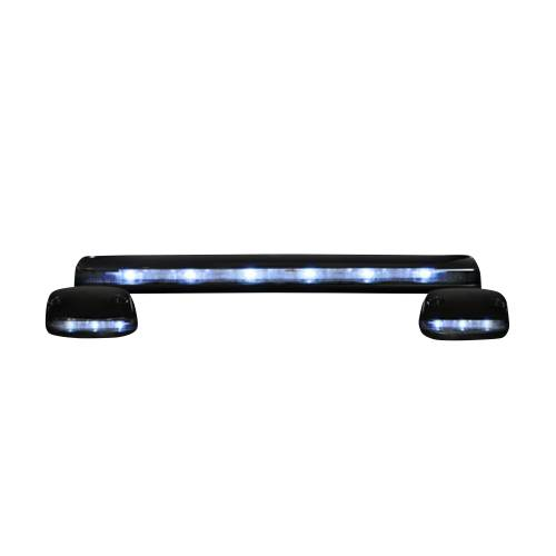 Lighting - Cab Roof Lights - Recon Truck Accessories - 264156WHCLHP | (3-Piece Set) Clear Cab Roof Light Lens with White High-Power OLED Bar-Style LED's