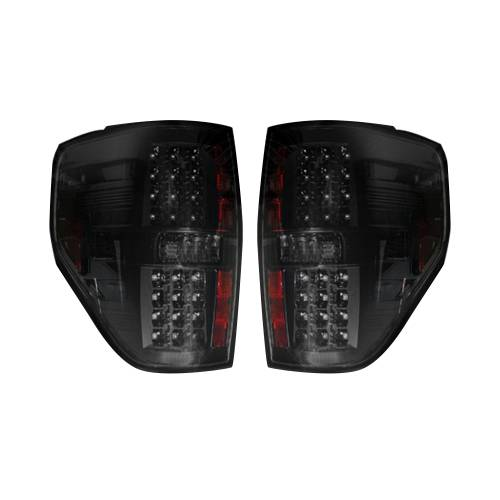 Lighting - LED Tail Lights - Recon Truck Accessories - 264168BK | LED TAIL LIGHTS – Smoked Lens