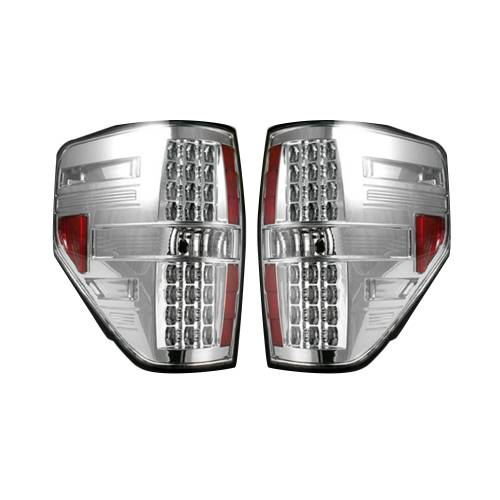 Lighting - LED Tail Lights - Recon Truck Accessories - 264168CL | LED TAIL LIGHTS – Clear Lens