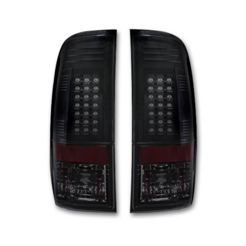 Lighting - LED Tail Lights - Recon Truck Accessories - 264176BK | LED TAIL LIGHTS – Smoked Lens