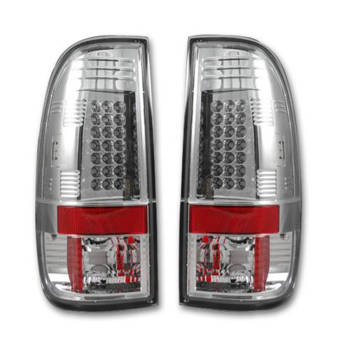 Lighting - LED Tail Lights - Recon Truck Accessories - 264176CL | LED TAIL LIGHTS – Clear Lens