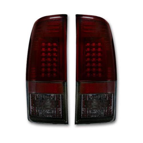 Lighting - LED Tail Lights - Recon Truck Accessories - 264176RBK | LED TAIL LIGHTS – Dark Red Smoked Lens