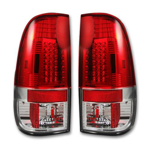 Lighting - LED Tail Lights - Recon Truck Accessories - 264176RD | LED TAIL LIGHTS – Red Lens
