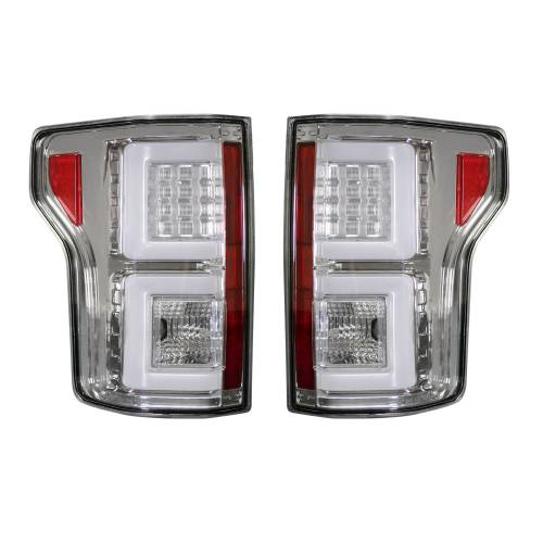 Recon Truck Accessories - 264268CL | (Replaces OEM Halogen Style Tail Lights) LED TAIL LIGHTS – Clear Lens