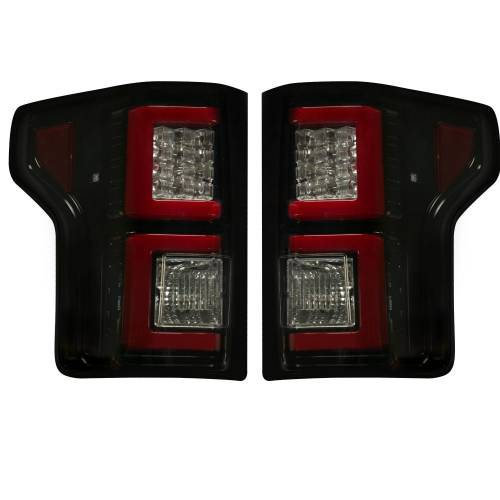 Recon Truck Accessories - 264268BK | (Replaces OEM Halogen Style Tail Lights) LED TAIL LIGHTS – Smoked Lens