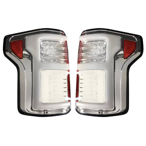 Recon Truck Accessories - 264268LEDCL | (Replaces OEM LED Style Tail Lights w Blind Spot Warning System) OLED TAIL LIGHTS – Clear Lens