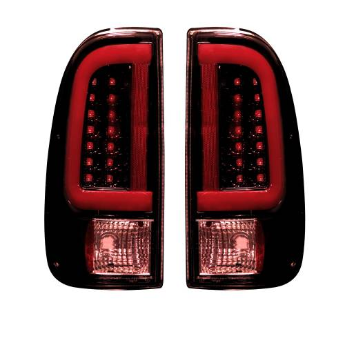 Lighting - LED Tail Lights - Recon Truck Accessories - 264293RBK | OLED TAIL LIGHTS – Dark Red Smoked Lens