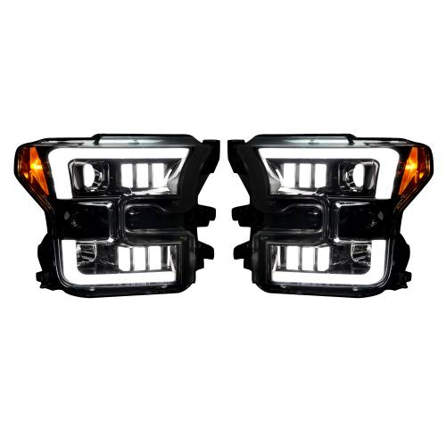 Recon Truck Accessories - 264290BKC | (Replaces OEM Halogen Style Head Lights Only) PROJECTOR HEADLIGHTS – Smoked / Black
